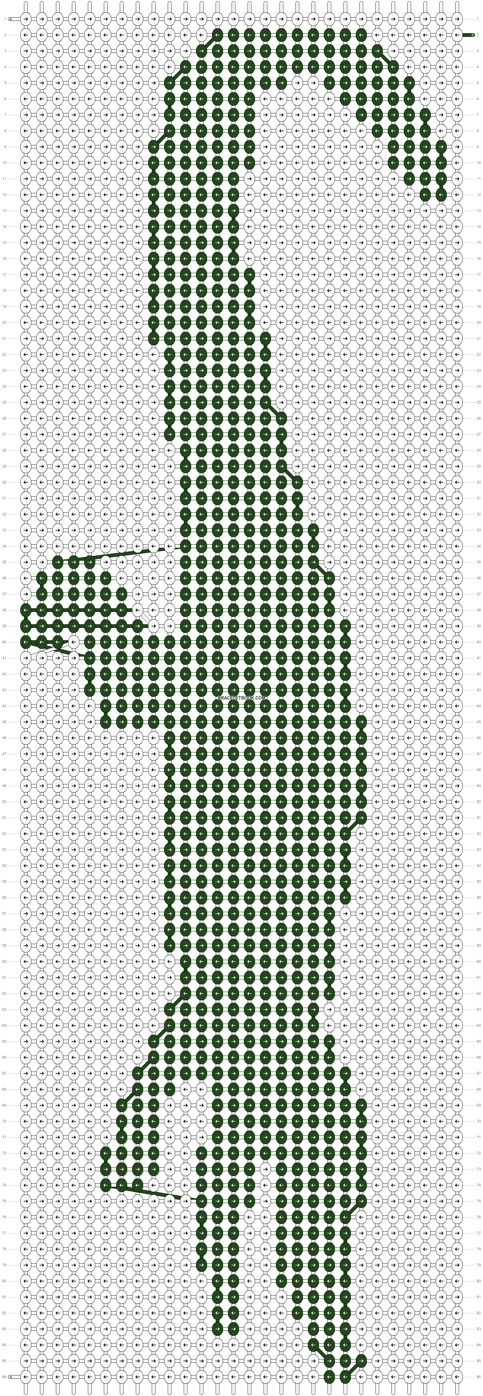 Alpha pattern #18500 pattern