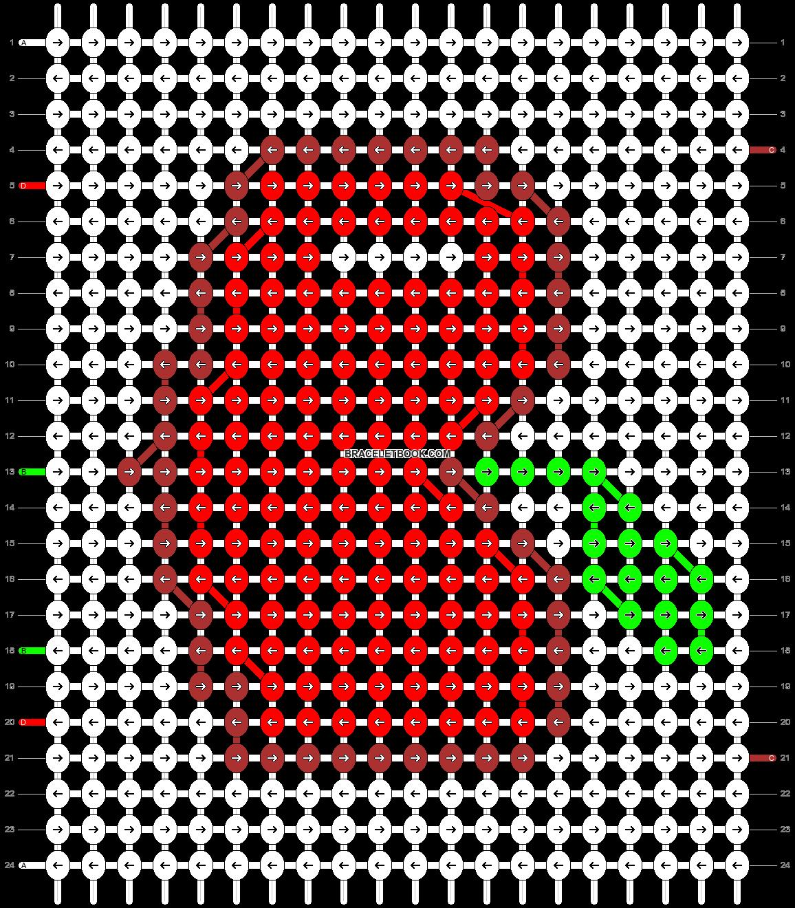 Alpha pattern #18829 pattern