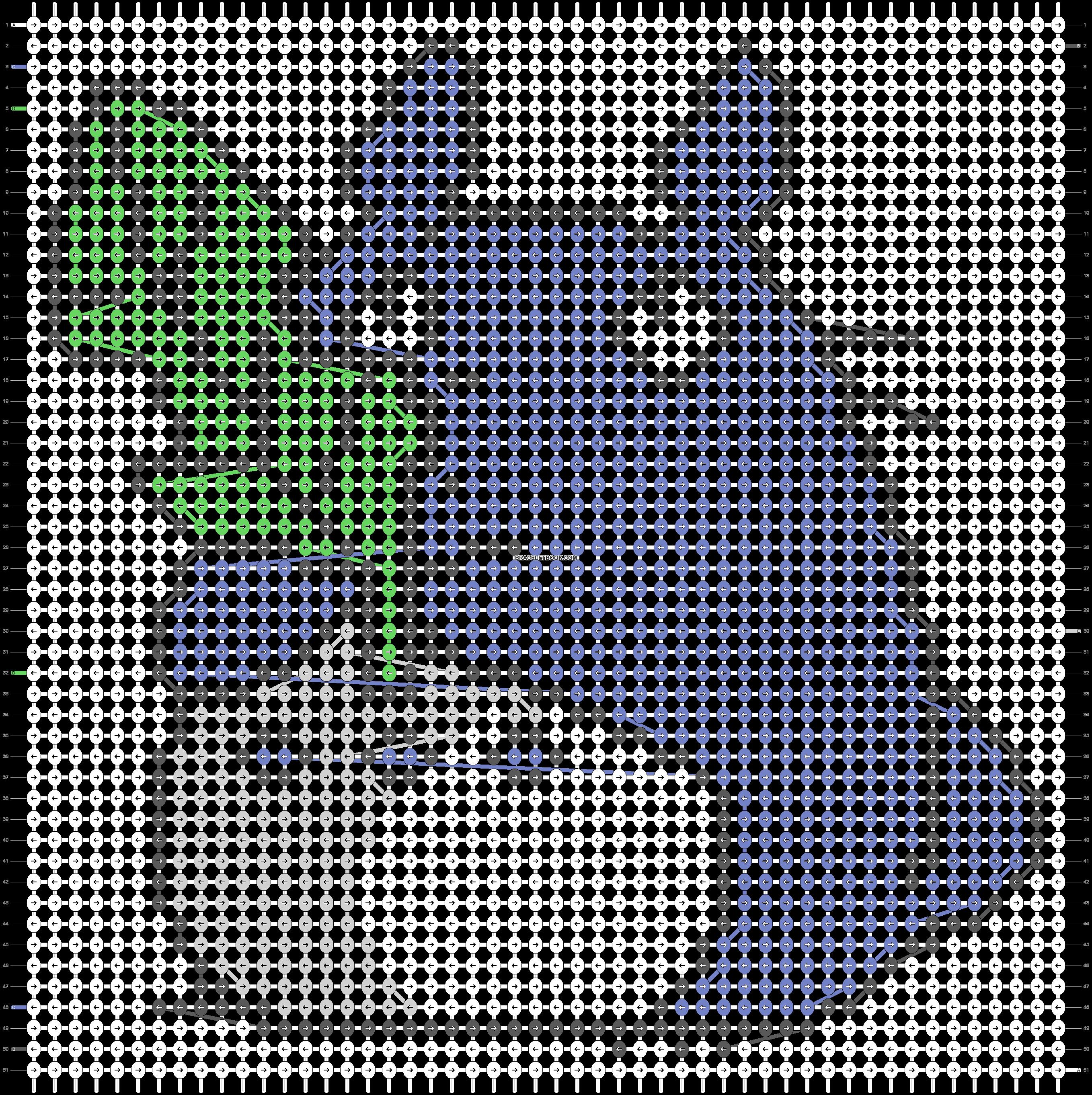 Alpha pattern #18898 pattern
