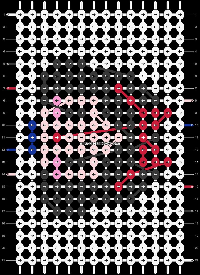 Alpha pattern #19013 pattern