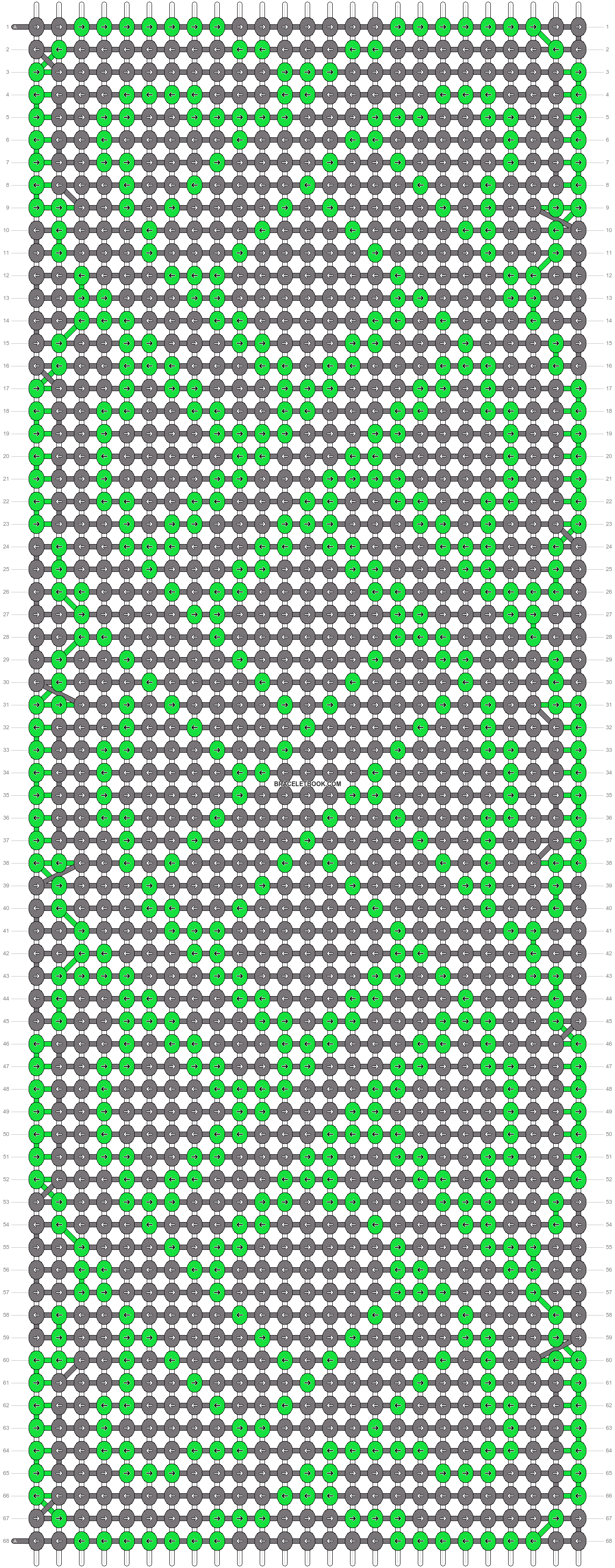 Alpha pattern #19019 pattern