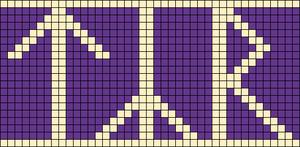 Alpha pattern #19042