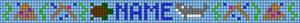 Alpha Friendship Bracelet Pattern #19143