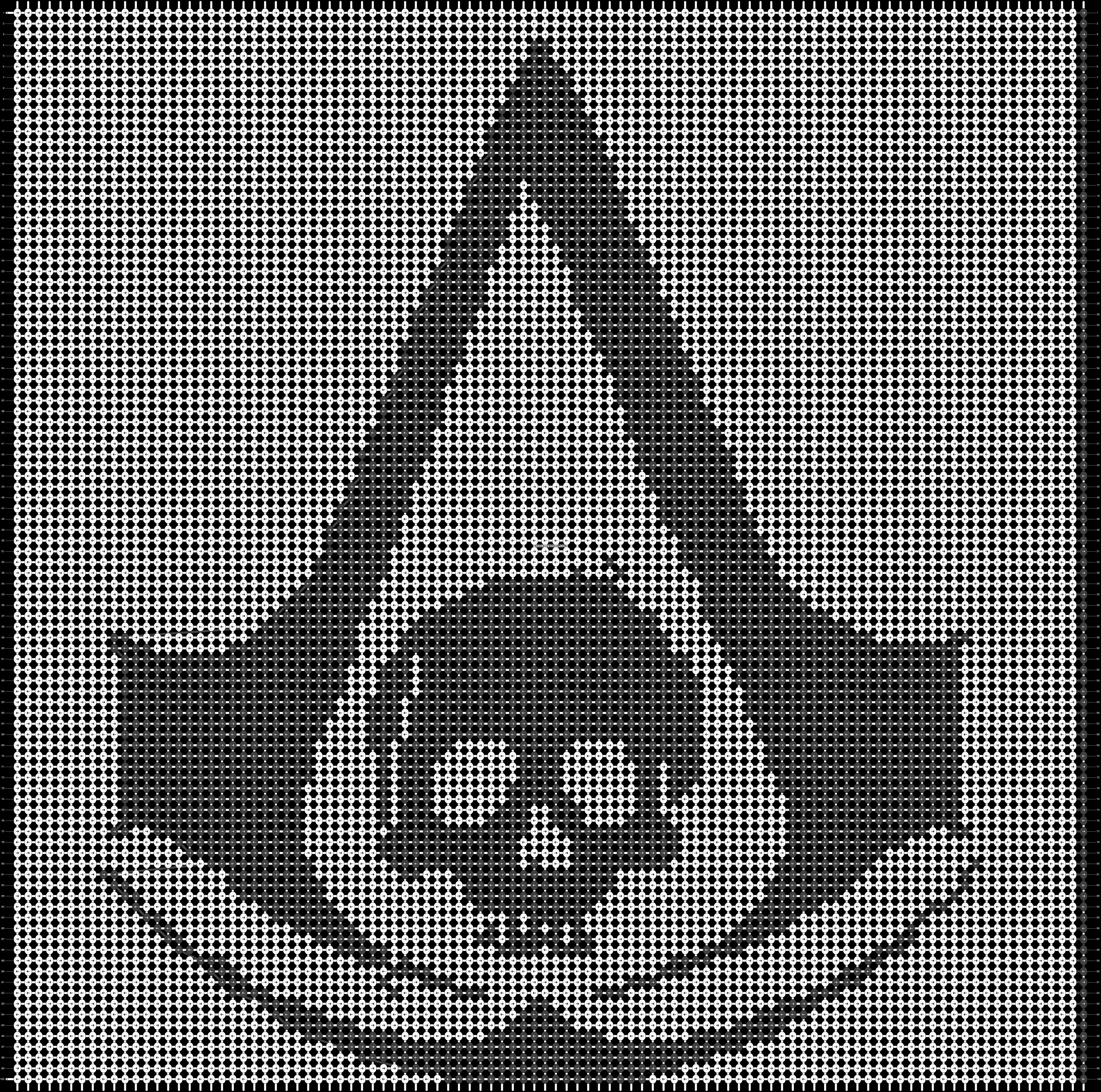 Alpha pattern #19606 pattern