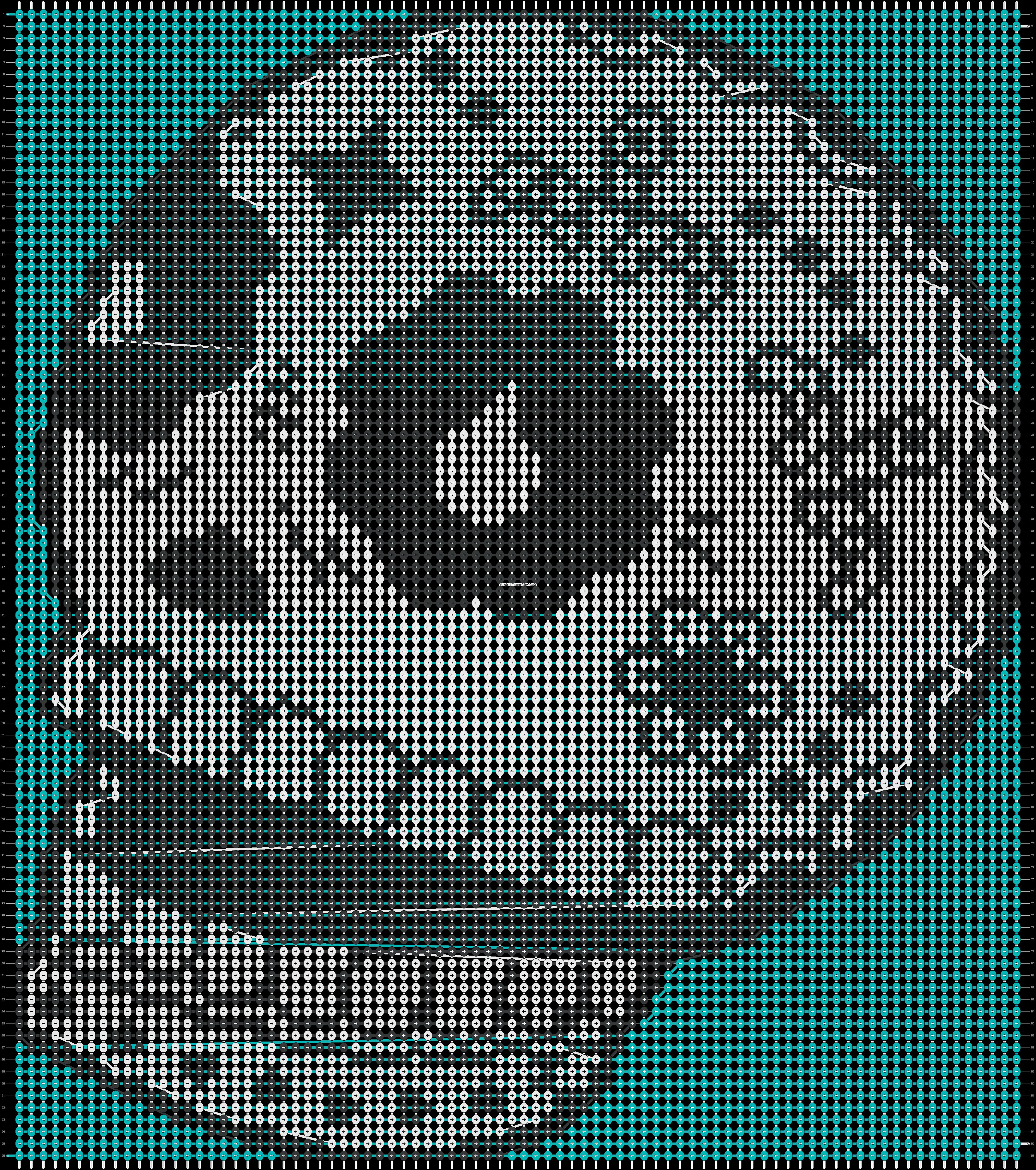 Alpha pattern #19845 pattern