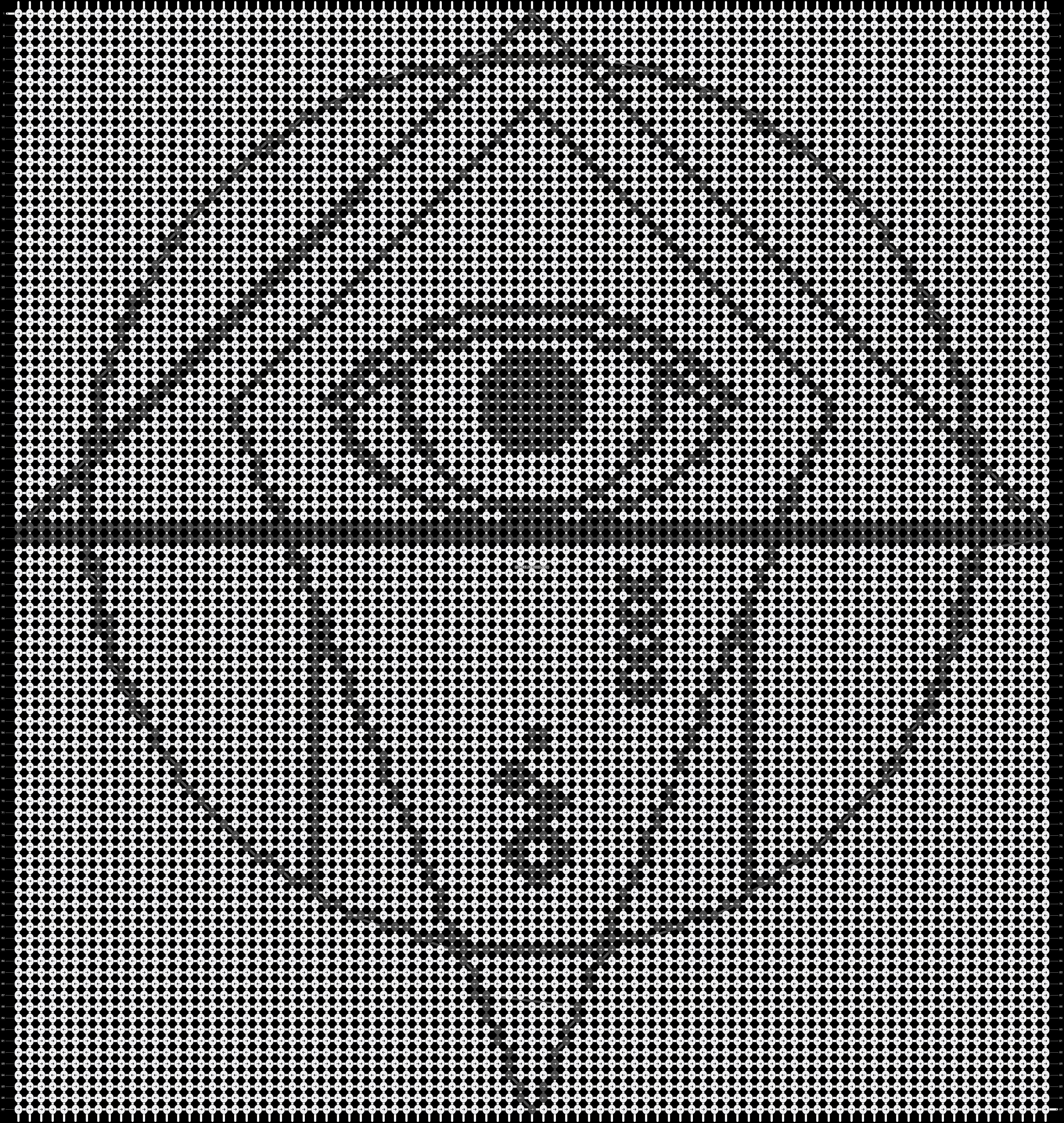 Alpha pattern #20020 pattern