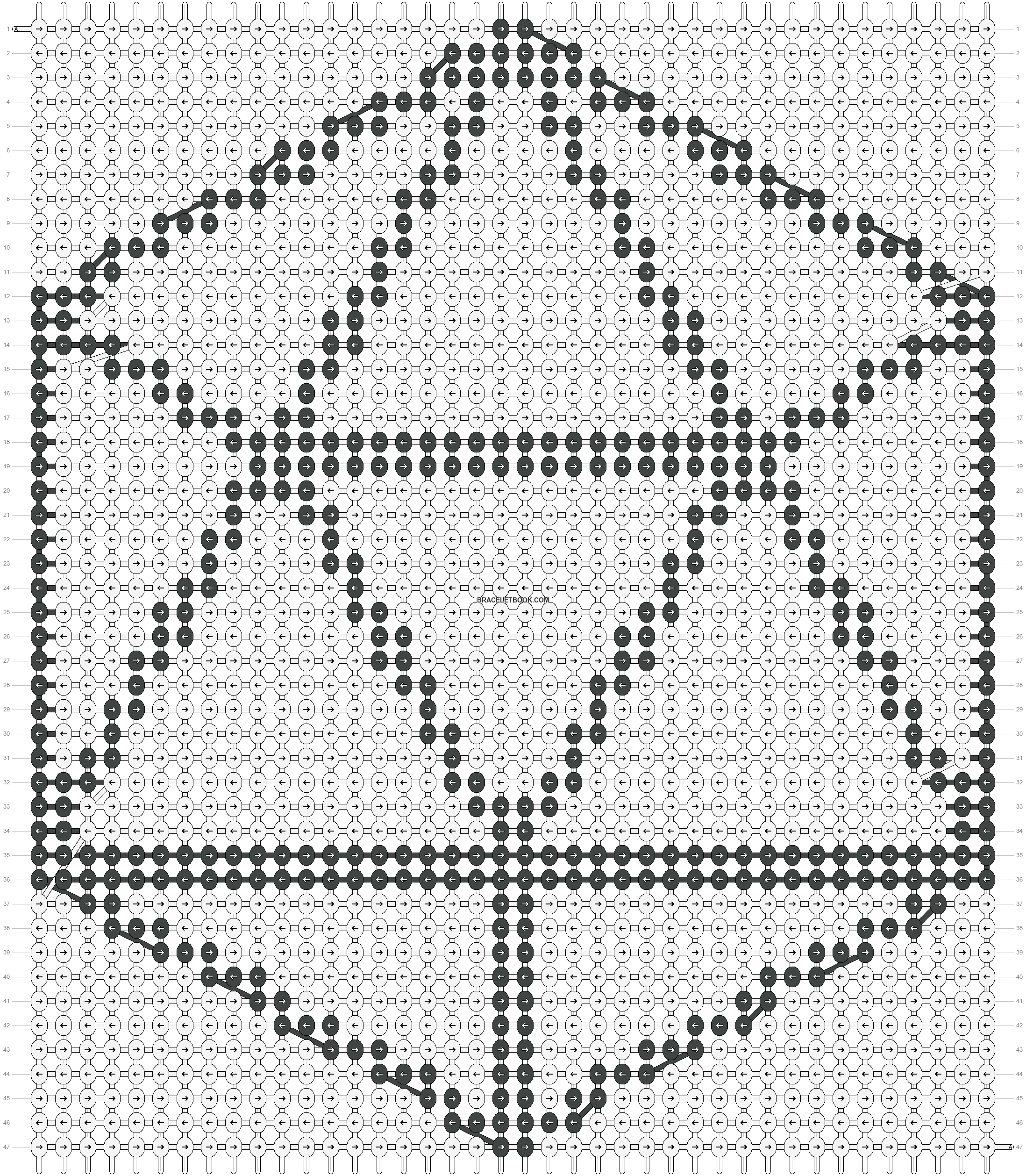Alpha pattern #20021 pattern