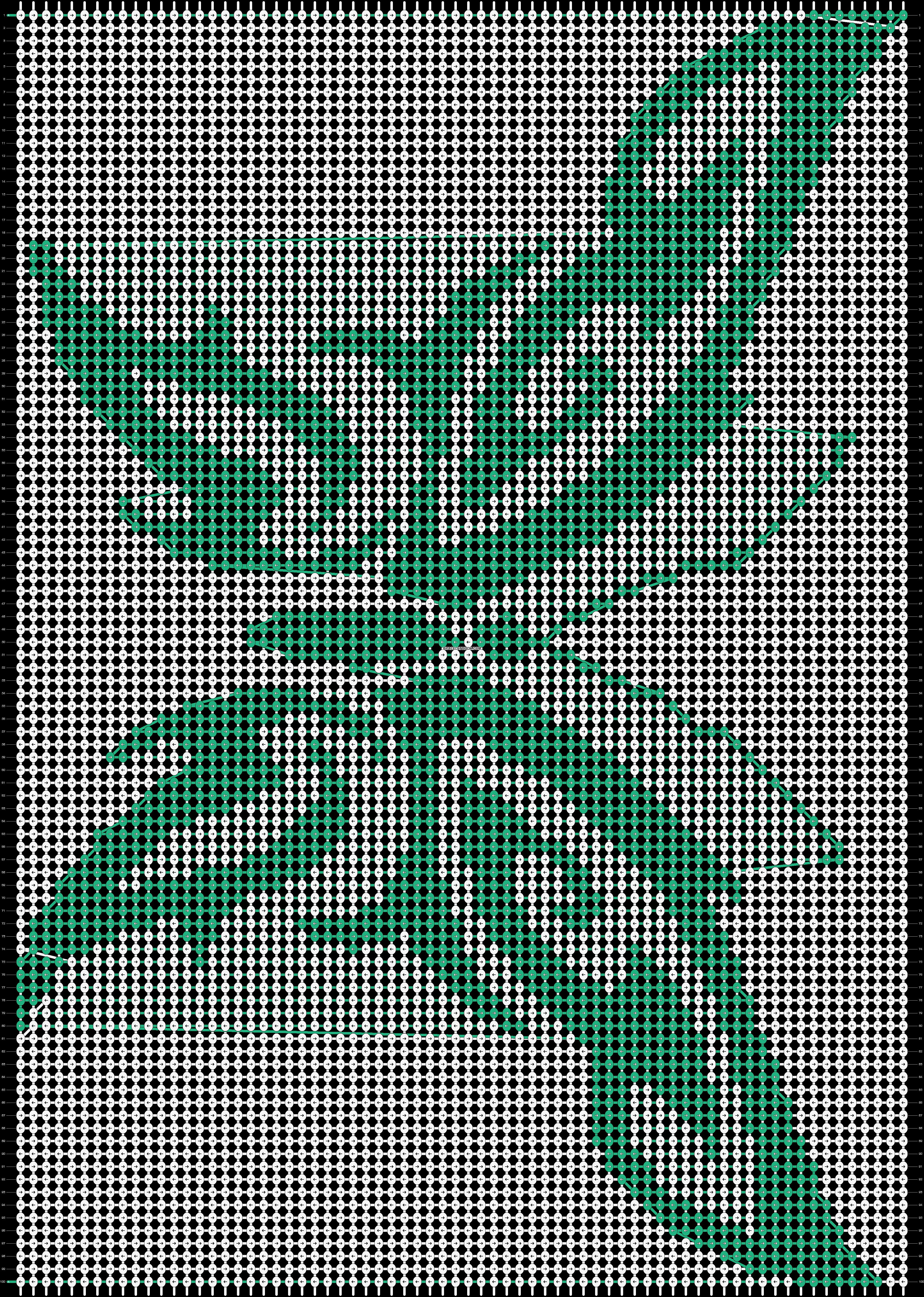 Alpha pattern #20064 pattern