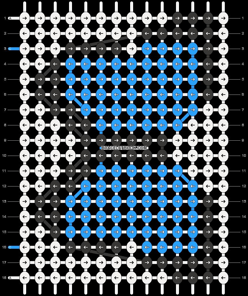 Alpha pattern #20401 pattern