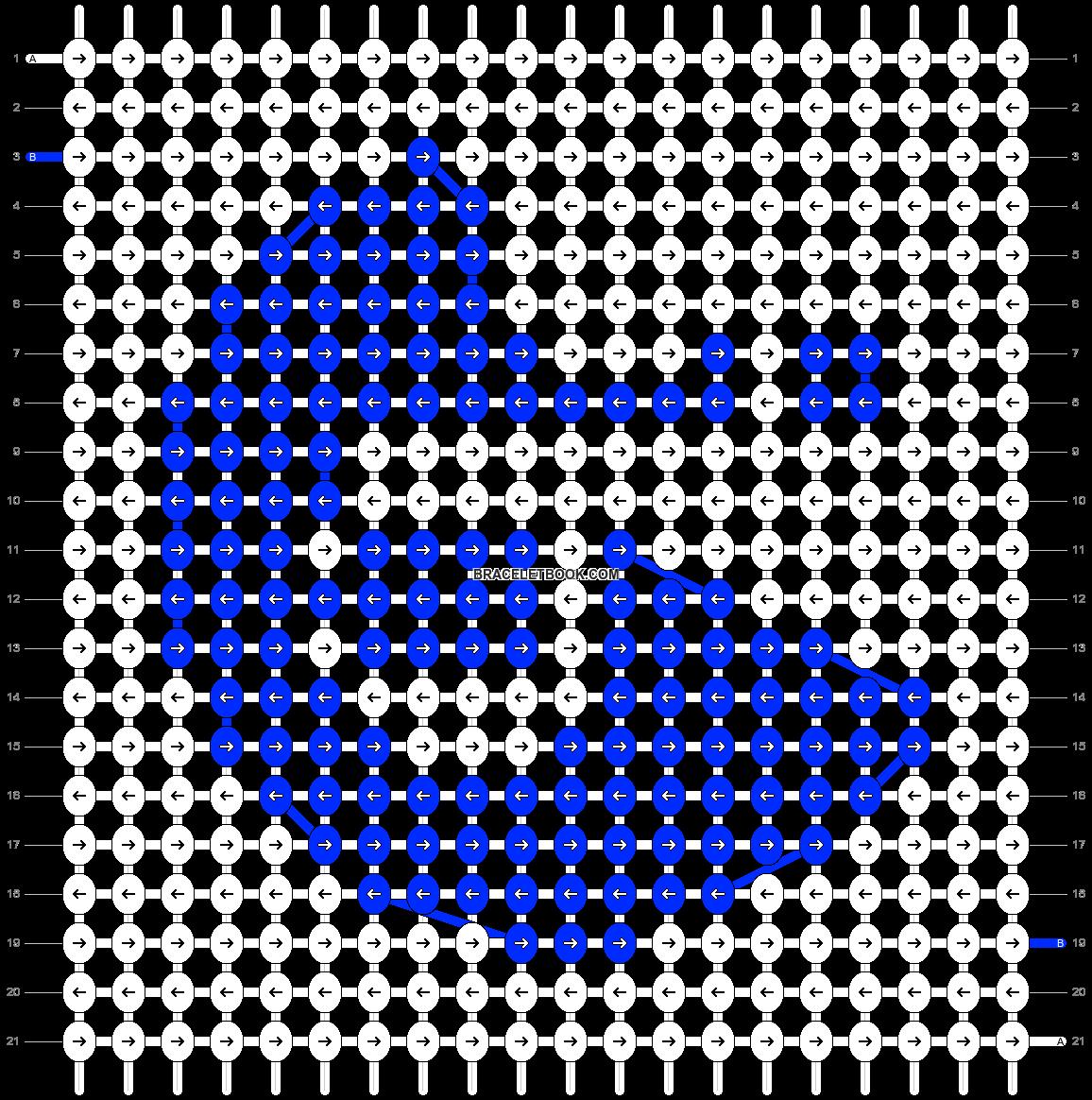Alpha pattern #20447 pattern
