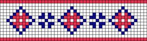 Alpha Friendship Bracelet Pattern #20490