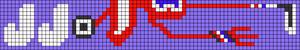 Alpha Friendship Bracelet Pattern #20593