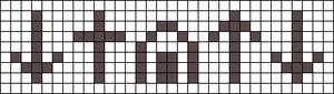Alpha Friendship Bracelet Pattern #20596