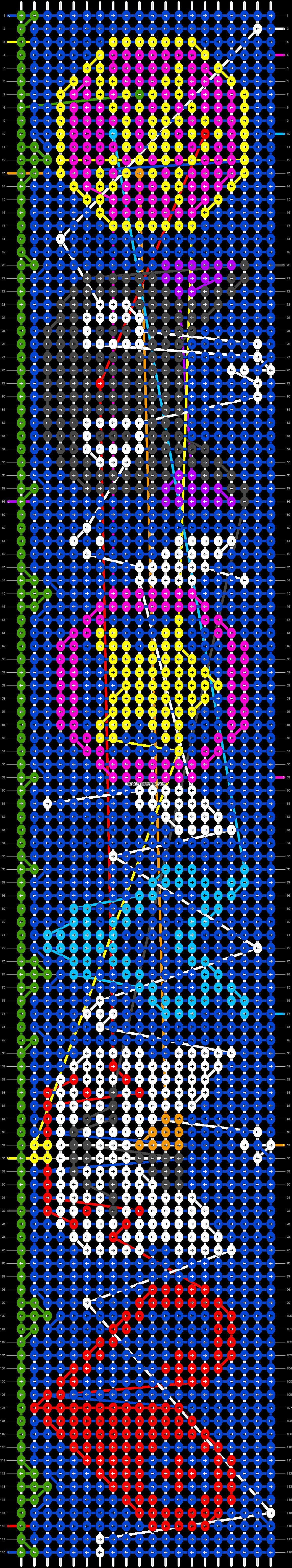 Alpha pattern #20640 pattern