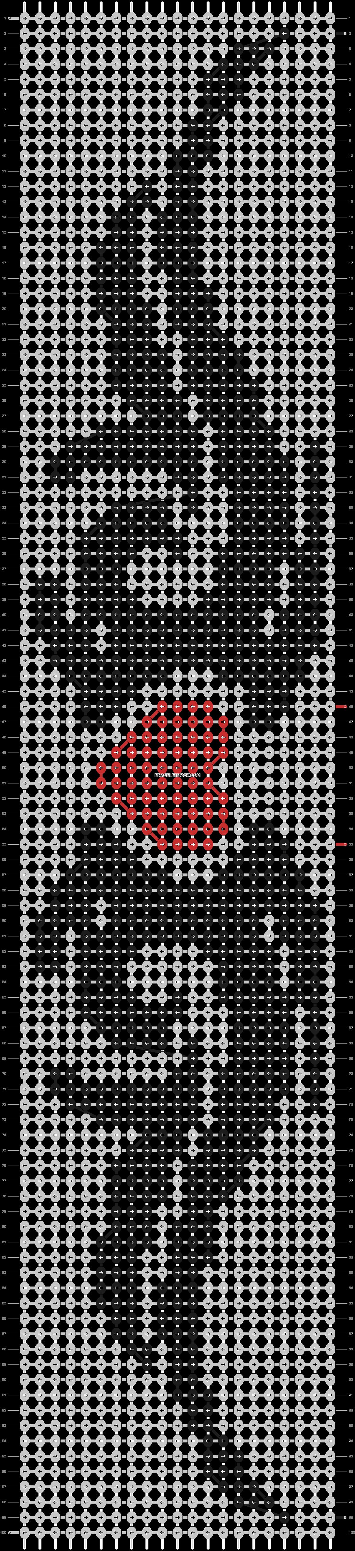 Alpha pattern #20743 pattern