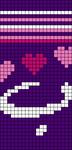 Alpha Friendship Bracelet Pattern #20784