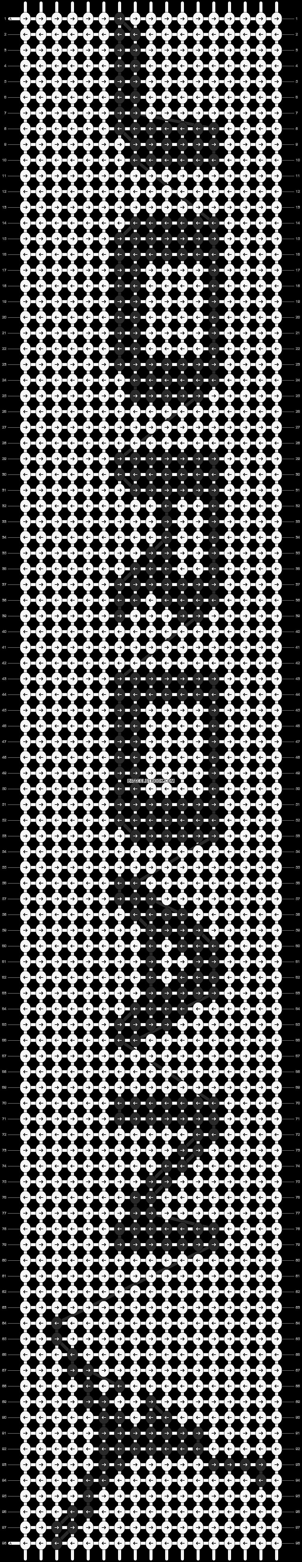 Alpha pattern #21009 pattern