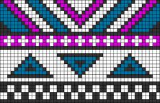 Alpha Friendship Bracelet Pattern #21383