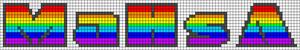 Alpha Friendship Bracelet Pattern #21409