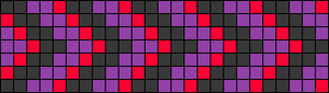 Alpha Friendship Bracelet Pattern #21996