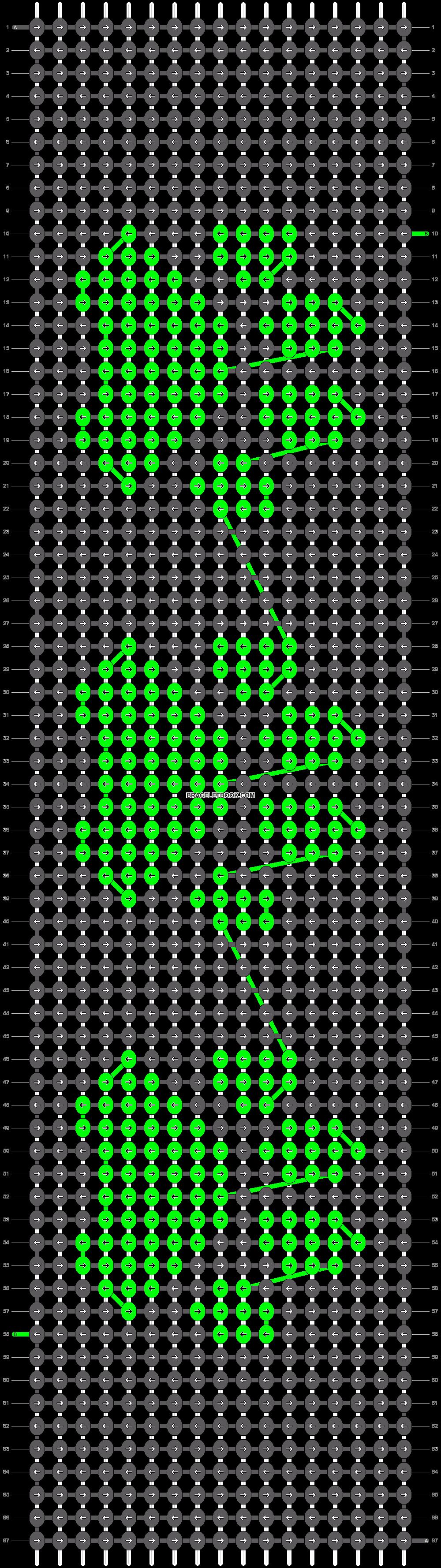 Alpha pattern #22030 pattern