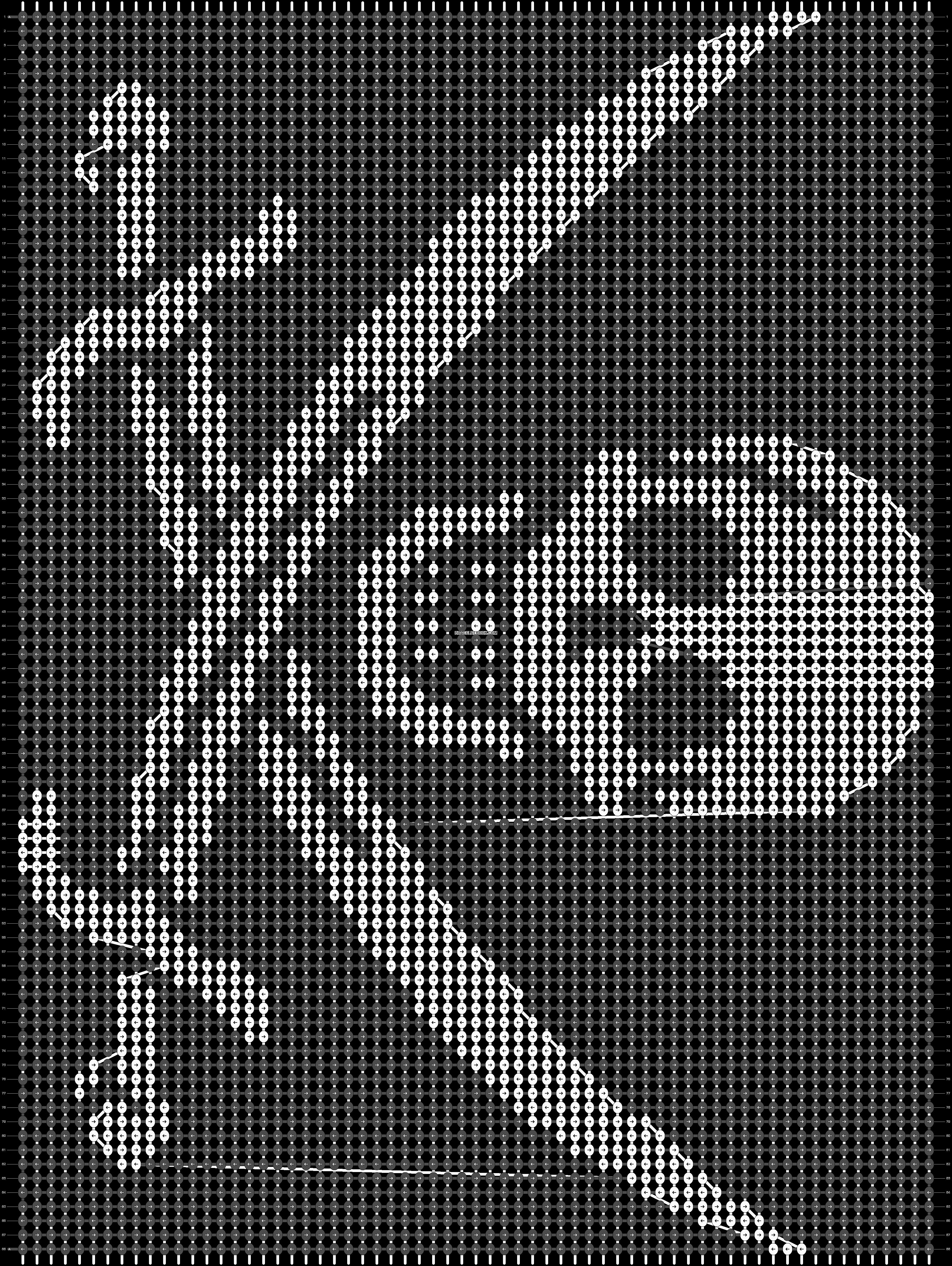 Alpha pattern #22076 pattern