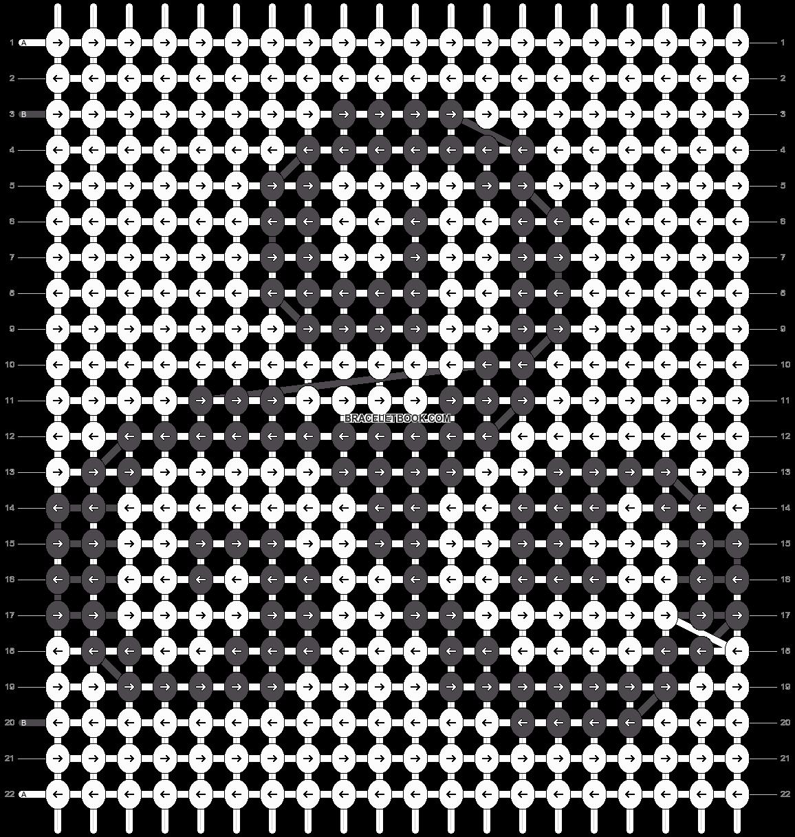 Alpha pattern #22125 pattern
