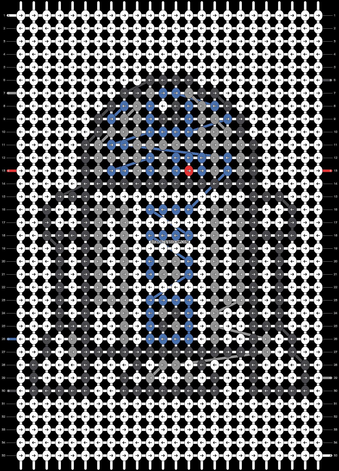 Alpha pattern #24023 pattern