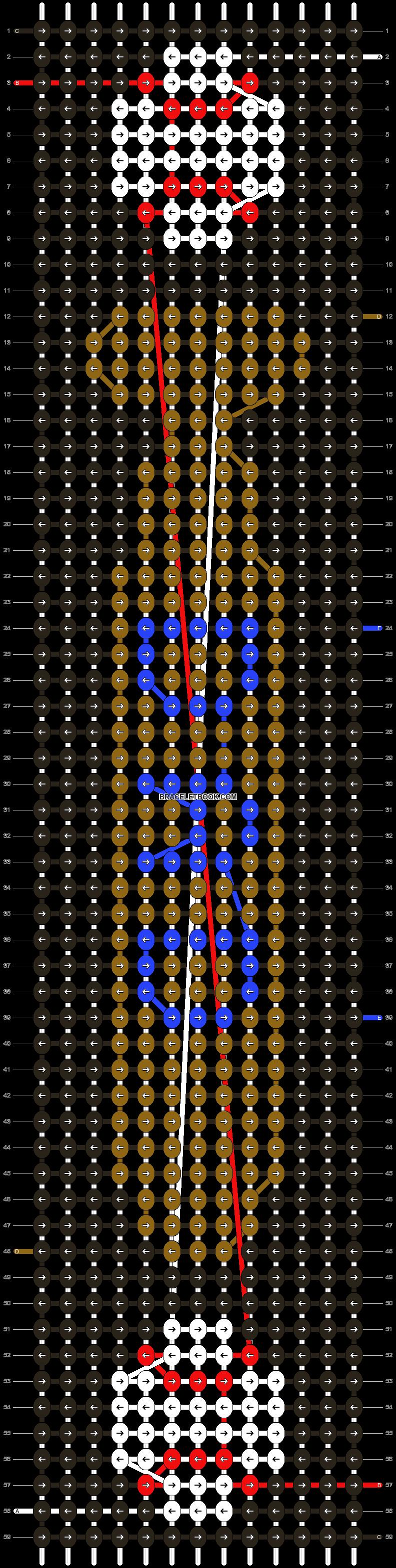 Alpha pattern #25004 pattern