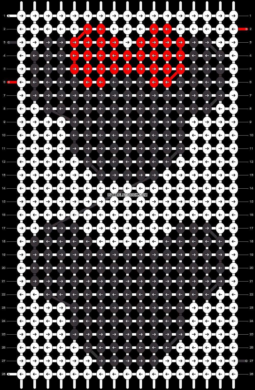 Alpha pattern #25048 pattern
