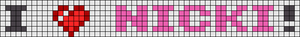 Alpha pattern #25101