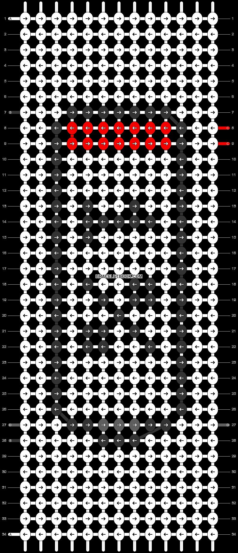 Alpha pattern #28006 pattern