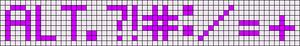 Alpha pattern #29710