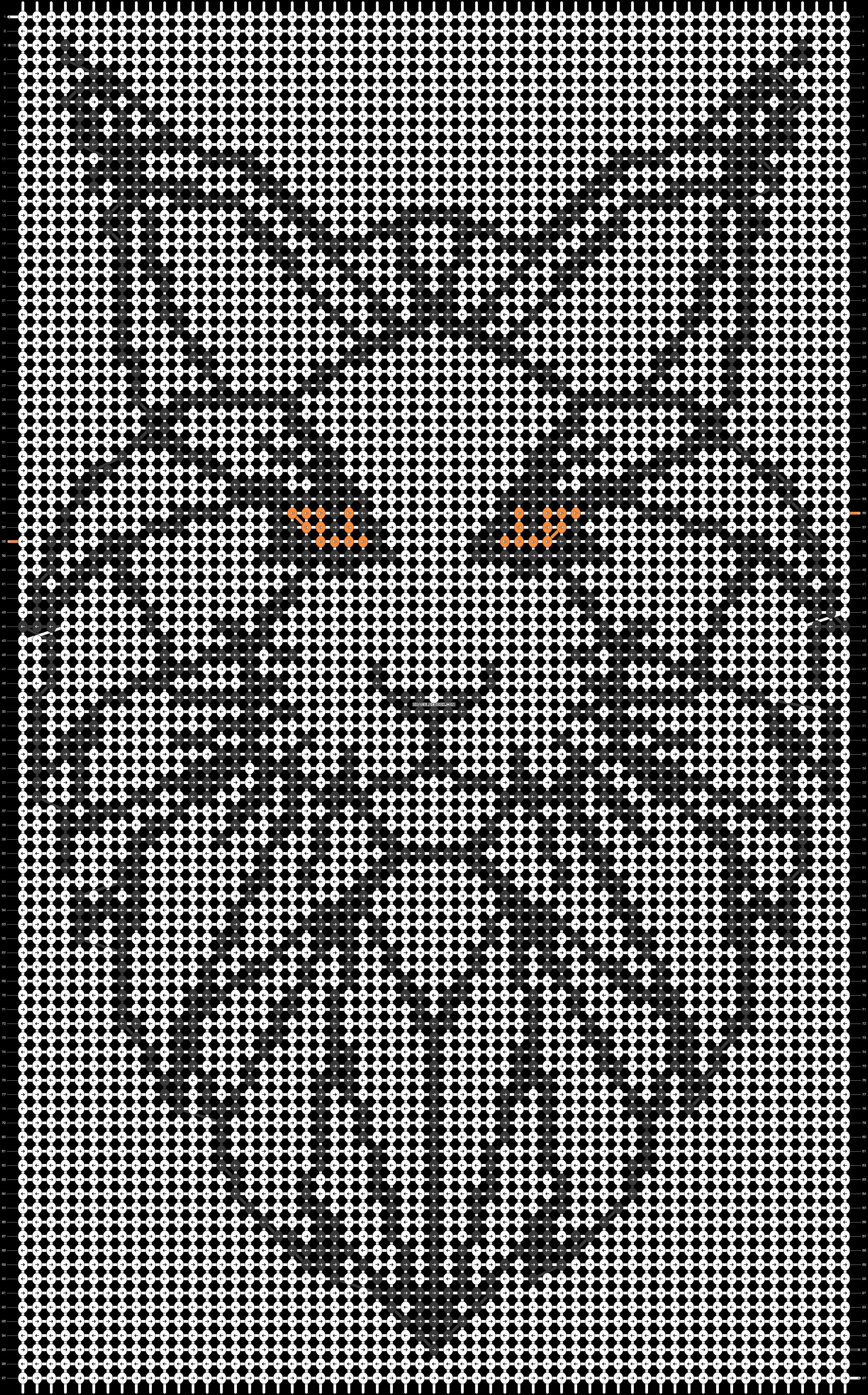 Alpha pattern #31042 pattern