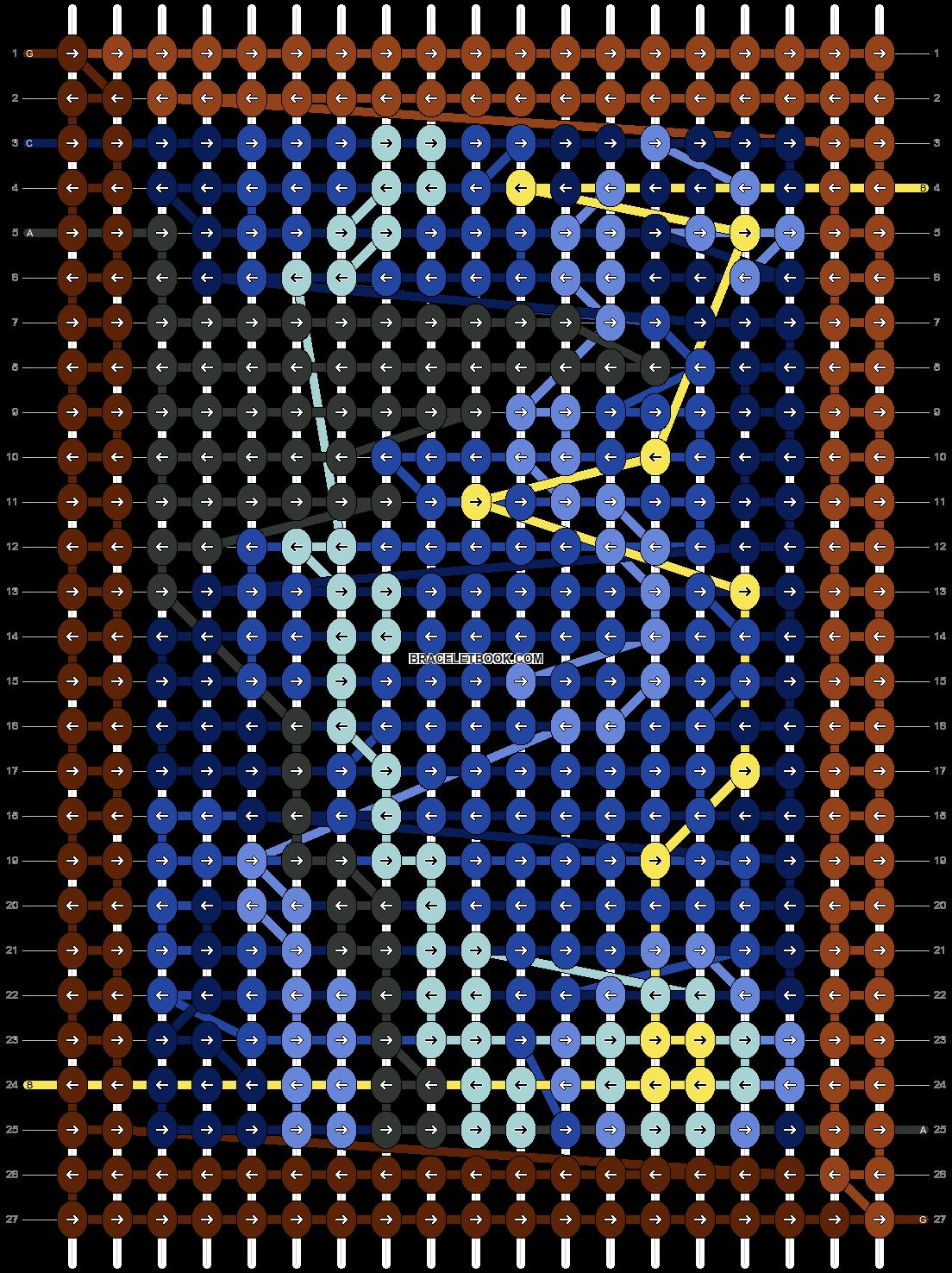 Alpha pattern #35013 pattern