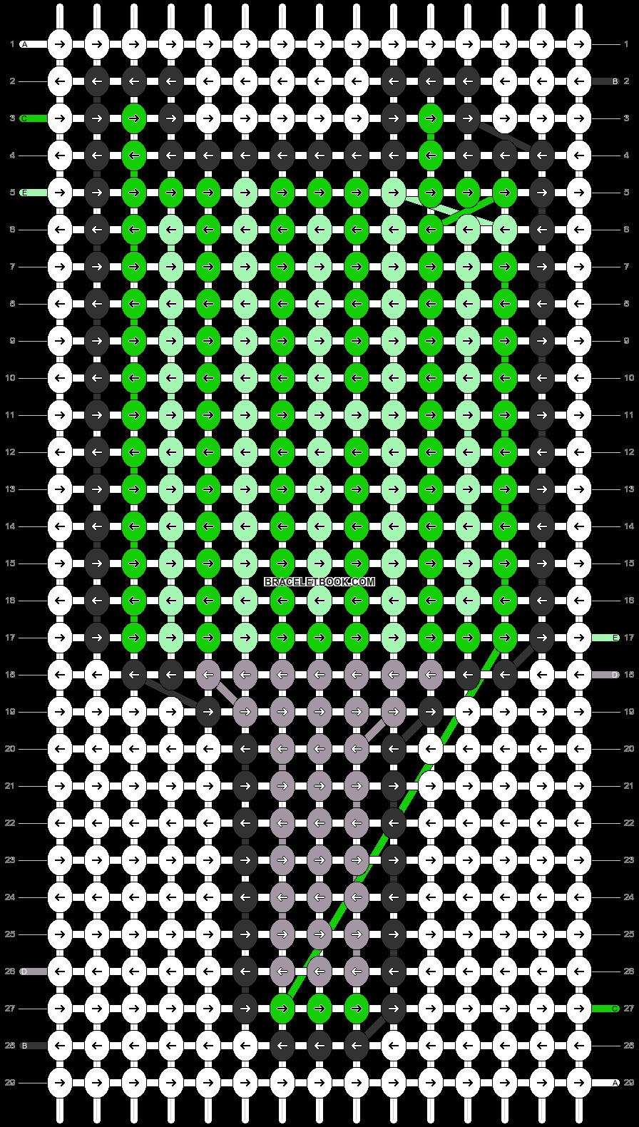 Alpha pattern #35134 pattern