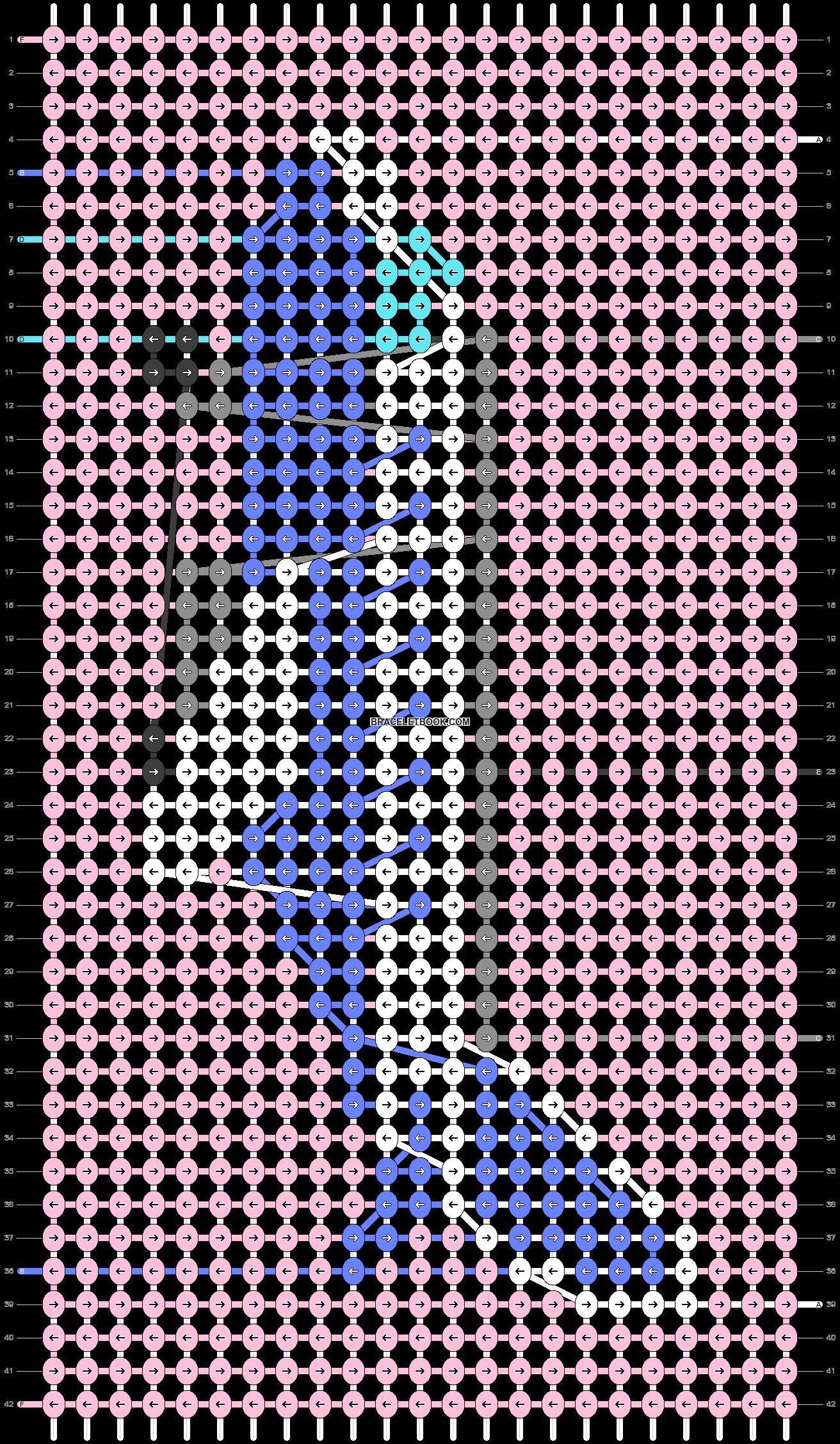 Alpha pattern #36005 pattern