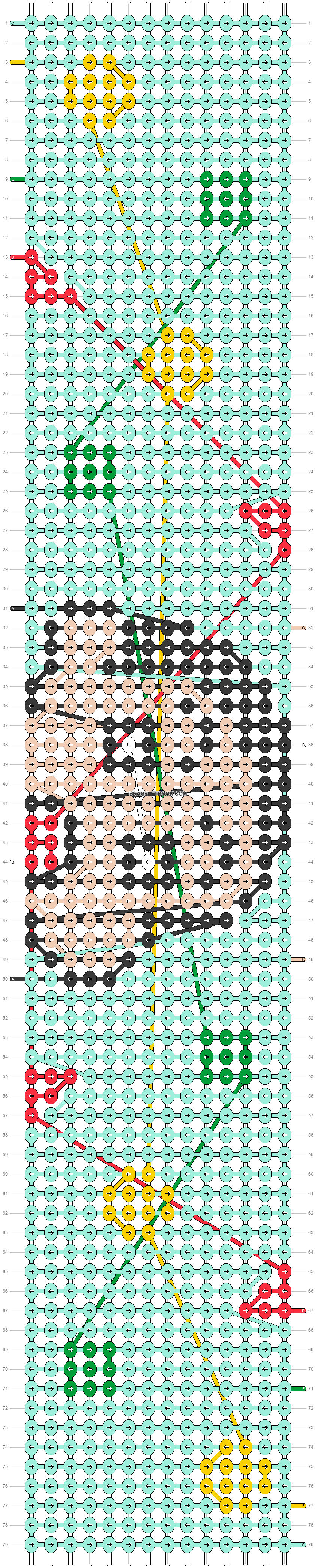 Alpha pattern #36011 pattern
