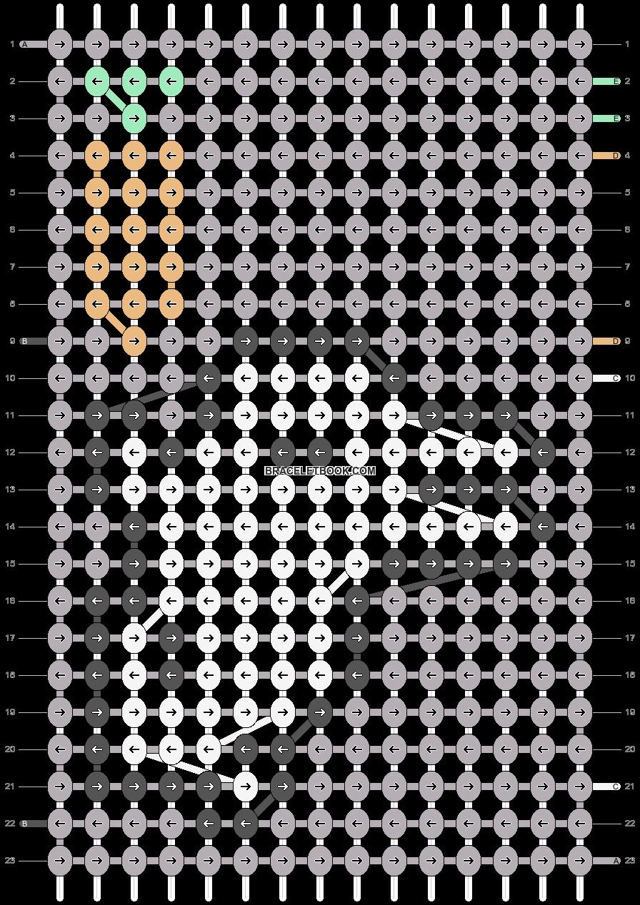 Alpha pattern #36598 pattern