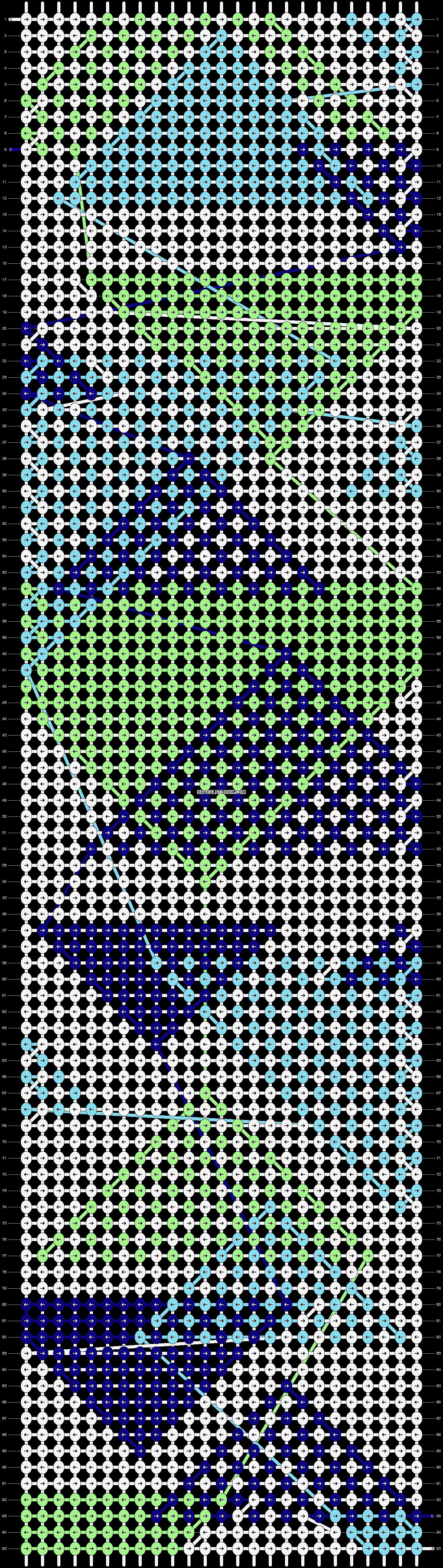 Alpha pattern #37021 pattern
