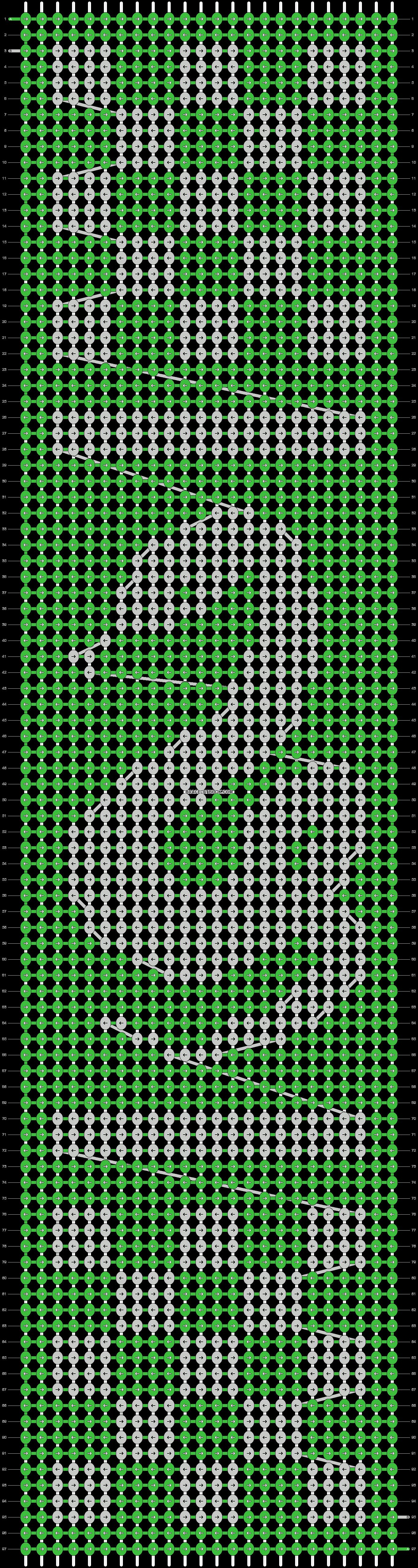 Alpha pattern #37050 pattern