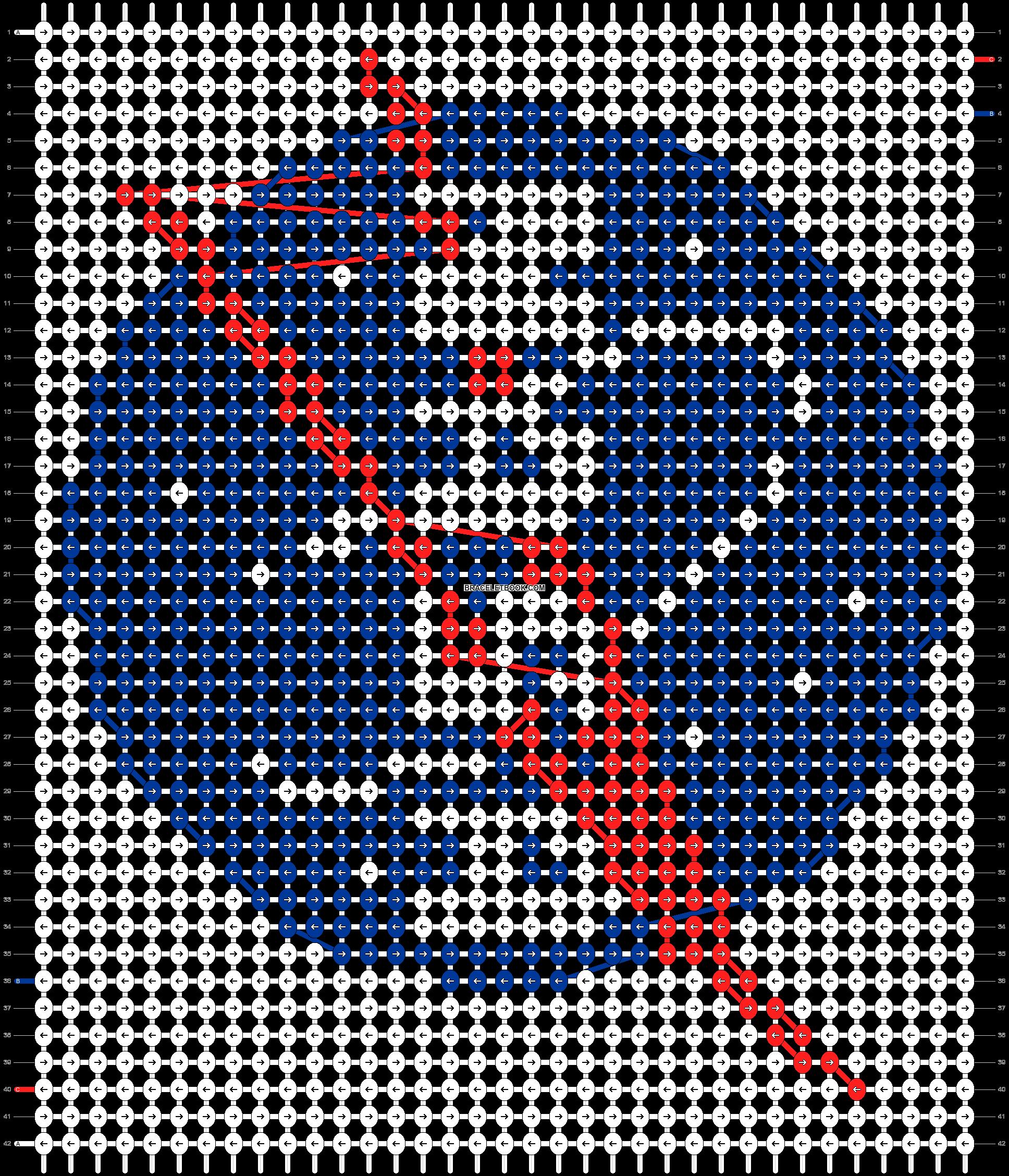 Alpha pattern #38000 pattern