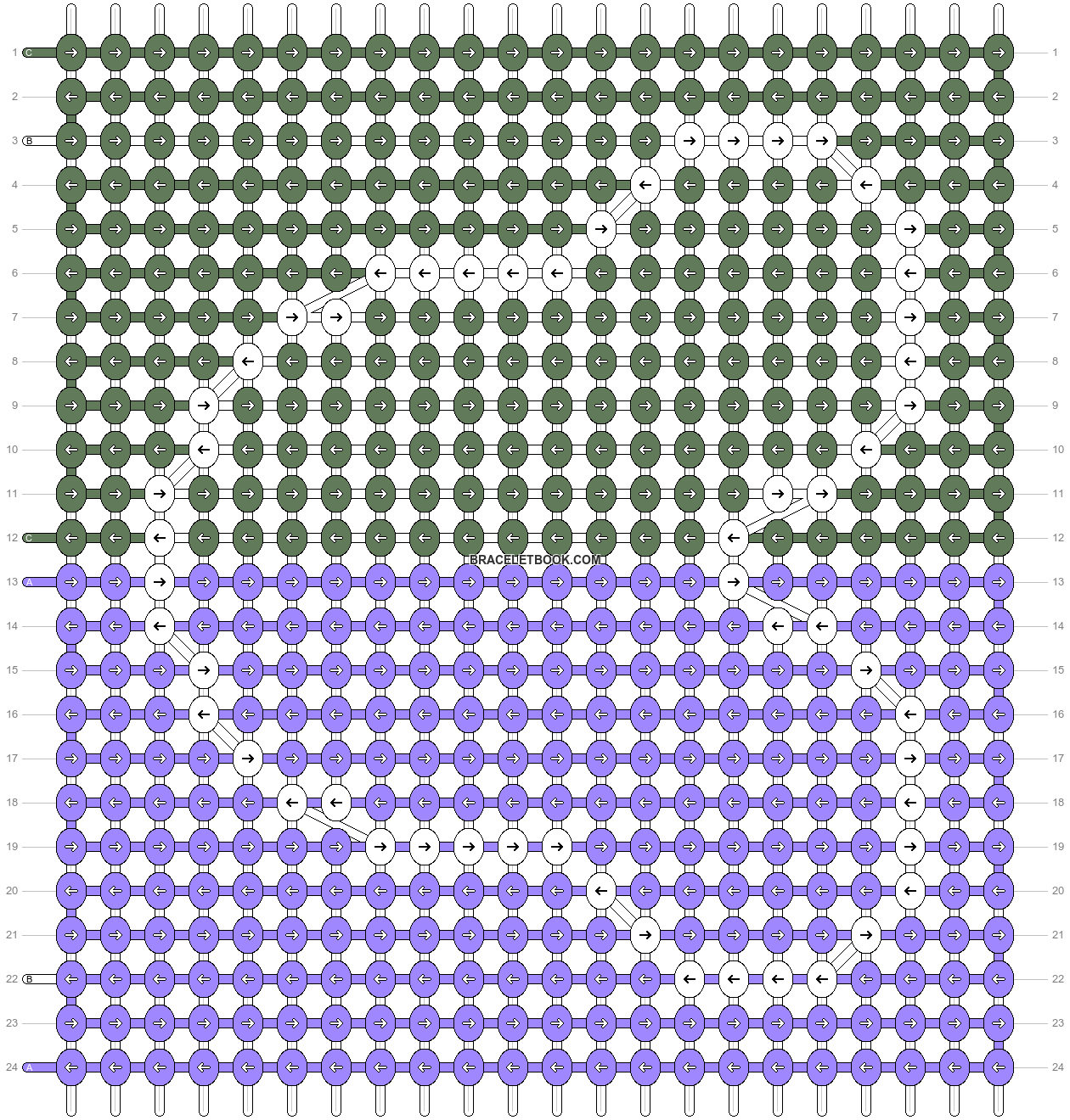 Alpha pattern #38006 pattern