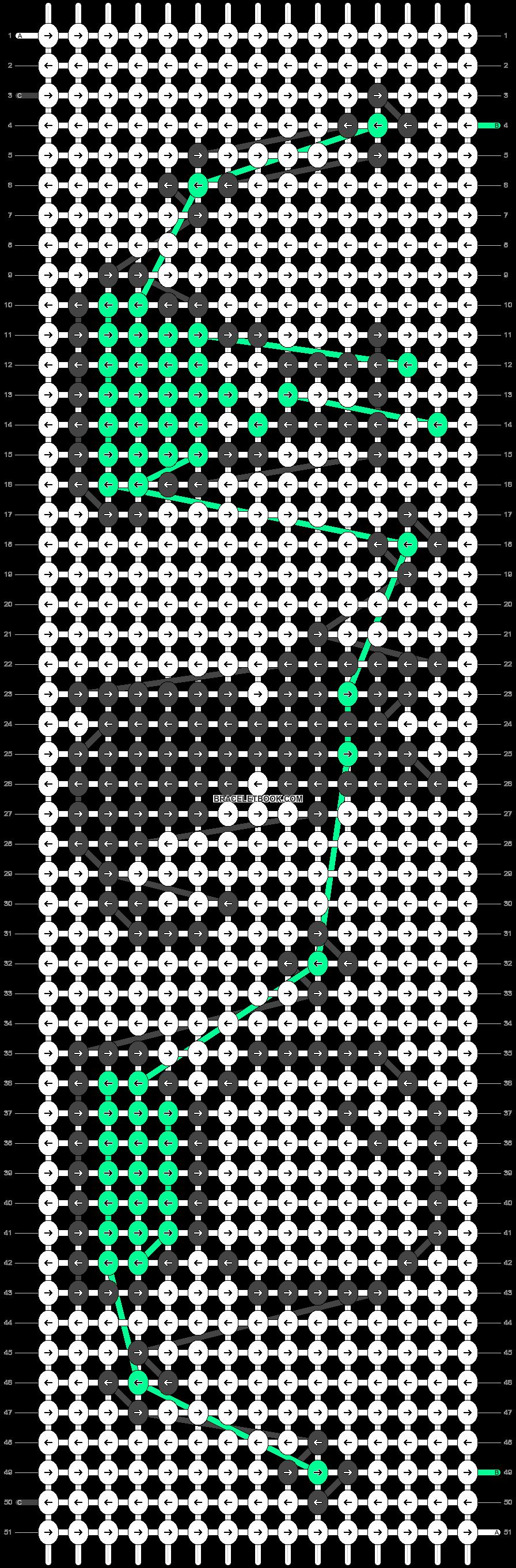 Alpha pattern #38200 pattern
