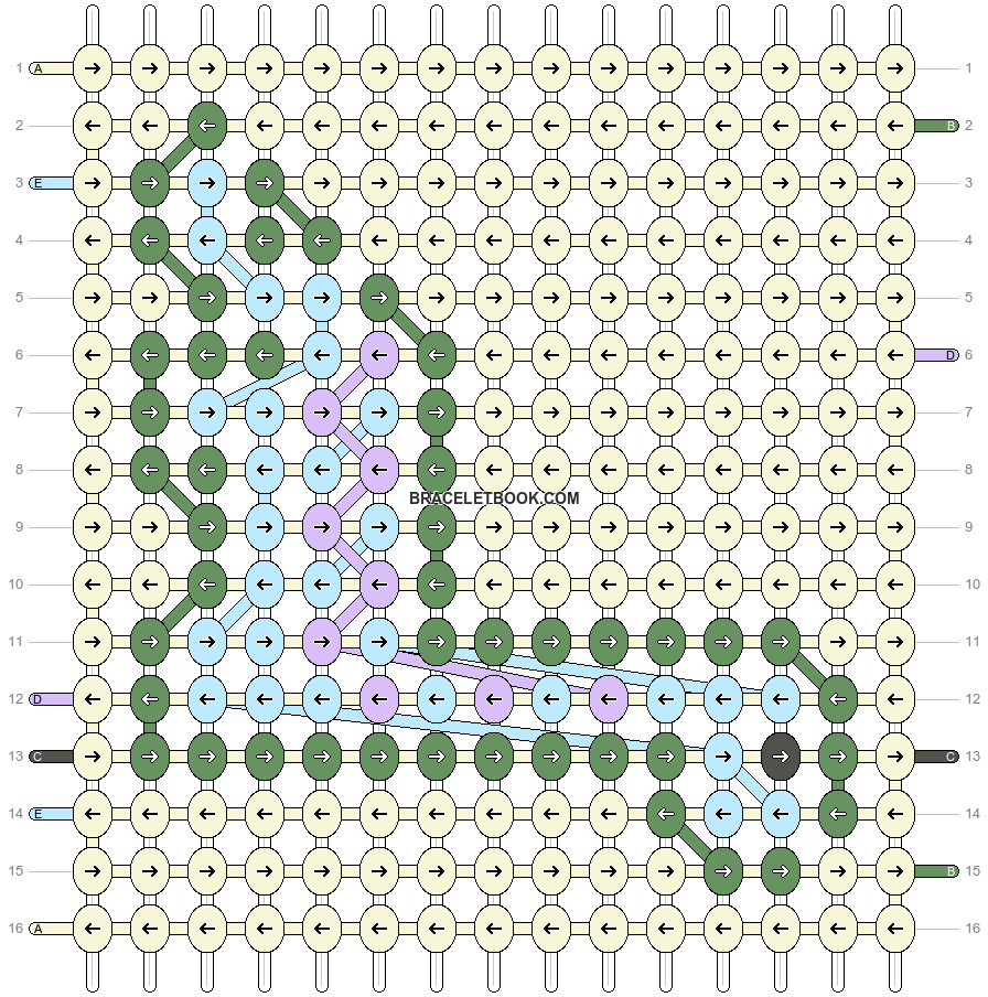 Alpha pattern #40043 pattern