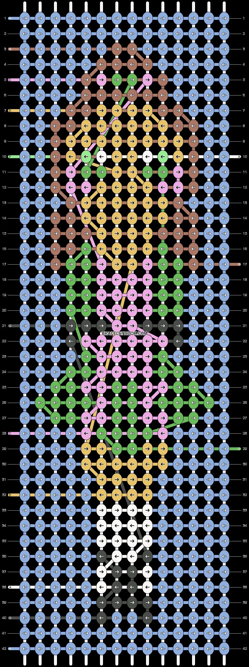 Alpha pattern #40412 pattern