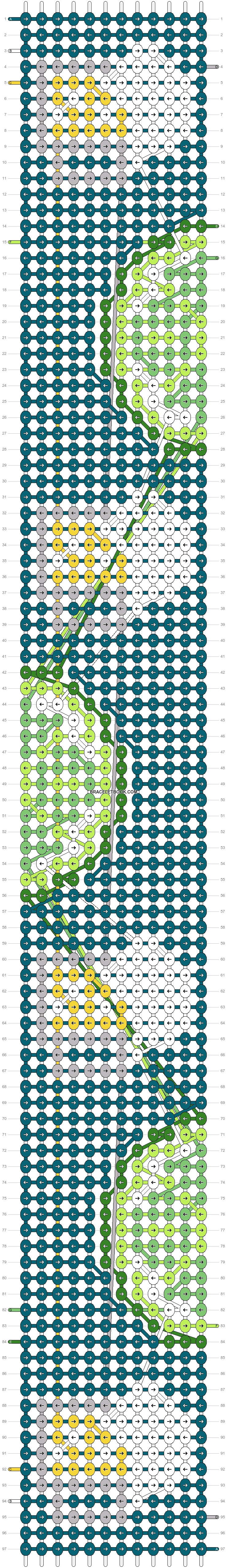 Alpha pattern #40520 pattern