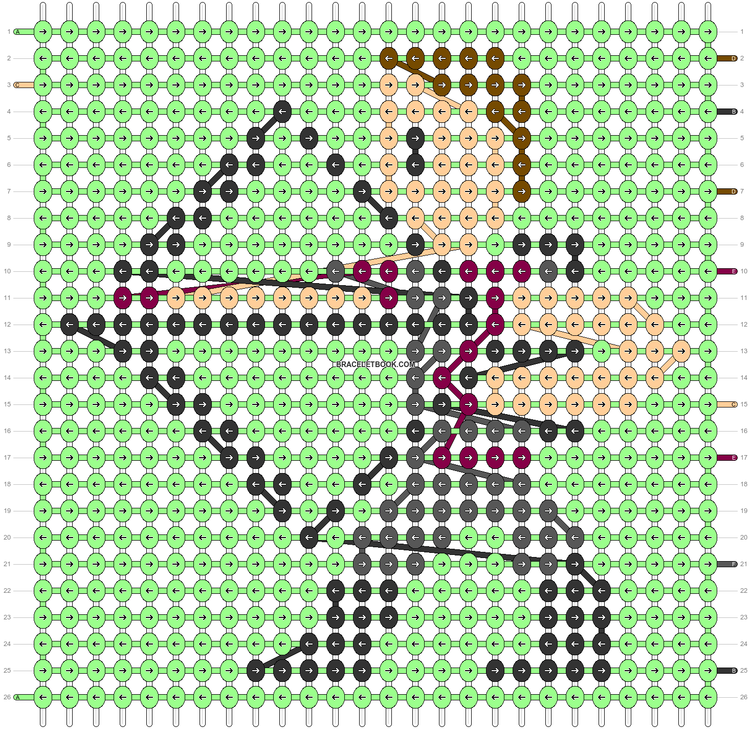 Alpha pattern #40707 pattern