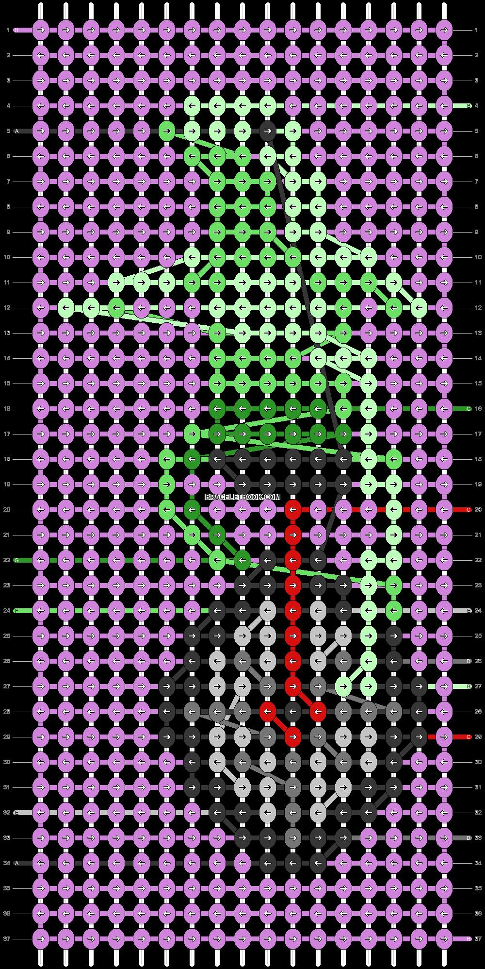 Alpha pattern #40854 pattern