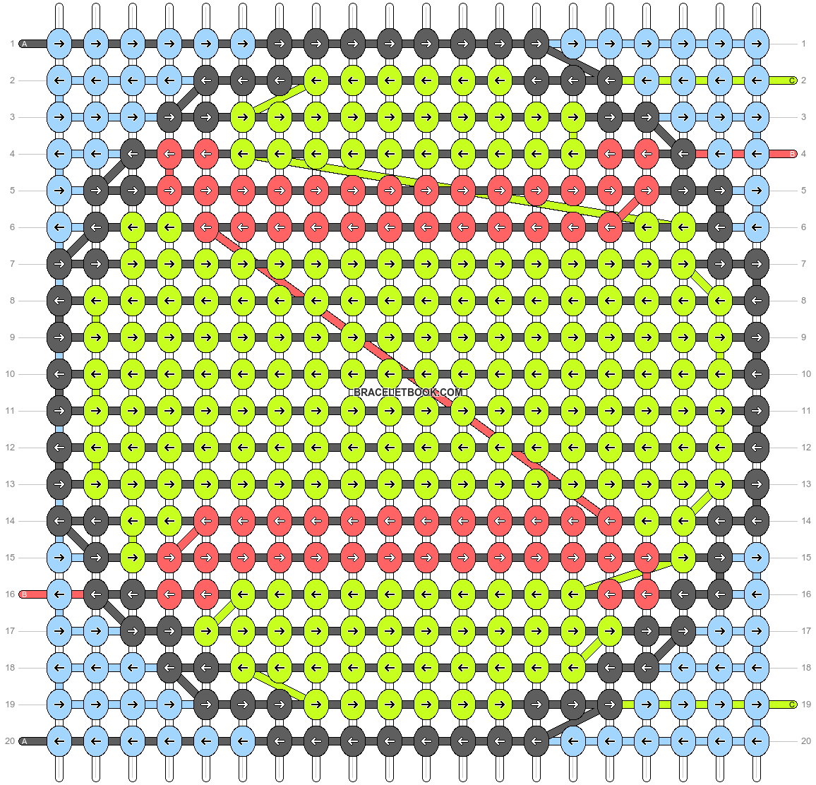 Alpha pattern #41208 pattern